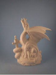 "Bisque Small warlord Dragon, 8.25"" T  (SKU:DH-1971)"