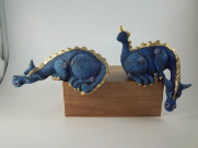 Painted P.C. Dragon set of 2