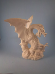 "Bisque Treasure Dragon, 8.5"" T (SKU:DH-1981)"