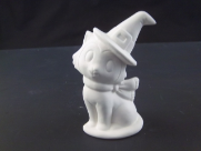 "Bisque Cat with witches Hat on,3.5"" T (AR-672)"