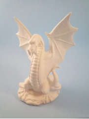 "Bisque Small Grand Dragon, 8.5"" T  ( SKU: DH- 1969)"