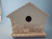 "Bisque General Store Birdhouse, 6"" T x 7.5 "" L  (SKU:K-2987)"