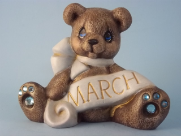 Painted March Birthstone Bear