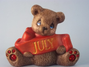 Painted July Birthstone Bear