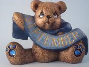 painted September Birthstone bear