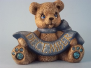 painted December Birthstone Bear
