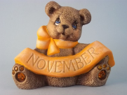 Painted November Birthstone Bear