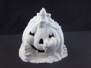 "Bisque Pumpkin Ghost Light,7"" T (K-1577)"