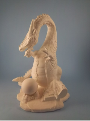 "Bisque Large Standing Dragon, 9"" T  (SKU:L-197)"