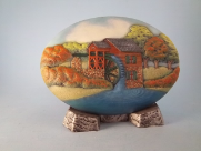 Painted Autumn Grist Mill Insert