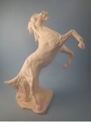 "Bisque Roughcut Mustang Horse, 11"" T  (SKU:DH-1355)"