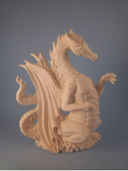 "Bisque Fire Dragon, 8.5"" T (SKU:K-3310)"