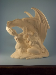 "Bisque The beginning life of a dragon, 10"" T x 9"" W (SKU:DH-2800)"