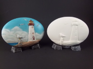 "Bisque Lighthouse Insert, 6"" L x 4"" W (SKU:D-1602)"