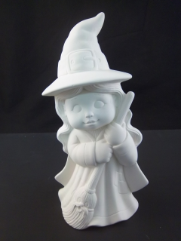 "Bisque Sweet Tot Witch, 9"" tall ( SKU D-908 )"