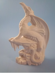 "Bisque Ice Dragon , 8"" T  (SKU:DH-1968)"