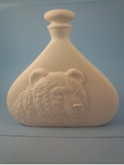 "Bisque Grizzly Bear Decanter Jar, 10"" T x 10 W"" (SKU:DH-623)"
