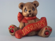 Painted January Birthstone bear
