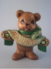 Painted August Birthstone Bear