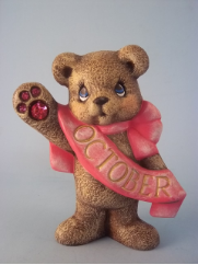 painted October Birthstone Bear