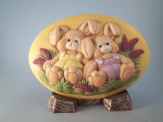 Painted Stuffed Bunny Insert