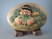 Painted Teddy Bear Shamrock Insert