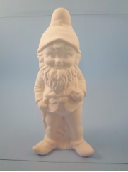 "Bisque Gnome standing, 11.5"" T  (SKU:Alb-545)"