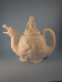 Bisque Dragon teapot /Barbarian Girl lid  glazed inside only.(SKU:DH-1344)