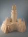 "Bisque Cape Disappointment Lighthouse, 10.5"" T x 10"" W (SKU:DH-2347)"