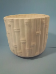 "Bisque Bamboo Planter Glazed inside,7"" T x 8.5""dia (SKU:DM- 44B )"