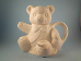 "Bisque Teddy Bear Tea Pot glazed inside, 7"" T (SKU:AL-1266)"