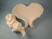"Bisque Angel wings dish with sleeping angel, 9"" T x 9"" W (SKU:D-1472A)"