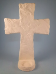 "Bisque Amazing Grace Cross w/candle cup, 9""T (SKU:DH-2676)"