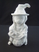 "Bisque Witch sitting on Pumpkin with cat,7 3/4"" t (DM-34B)"