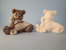 "Bisque March  Birthstone Bear, 3.5"" T x 2.5"" W  (SKU:J-1917)"