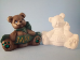 "Bisque May  Birthstone Bear,3.5"" T x 2.5"" W (SKU:J-1918)"