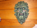 painted Greenman Plaque